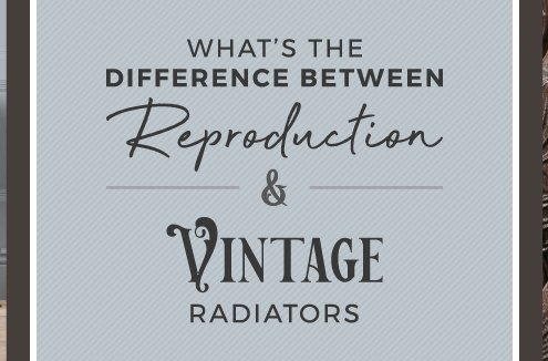 difference in reproduction and vintage rad banner