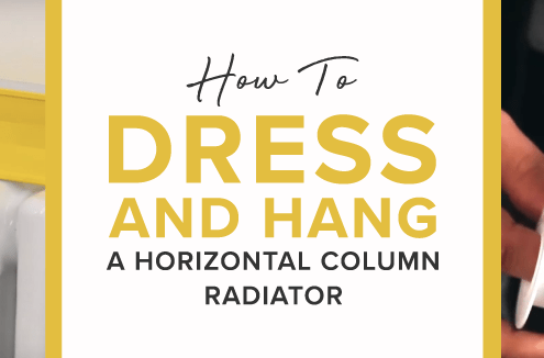How to Dress and Hang a Horizontal Column Radiator colour section featured image