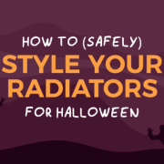 How to style radiators for Halloween blog banner