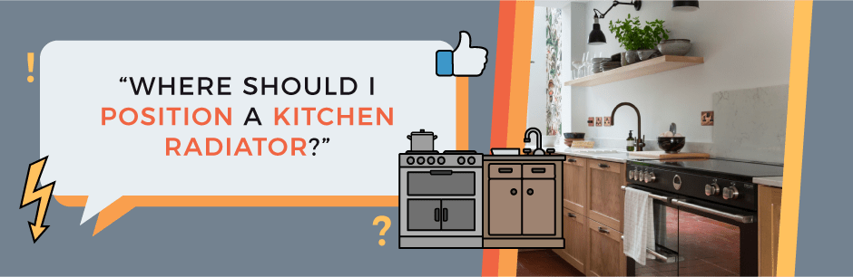 FAQ Header Image (Where should I position a kitchen radiator?)