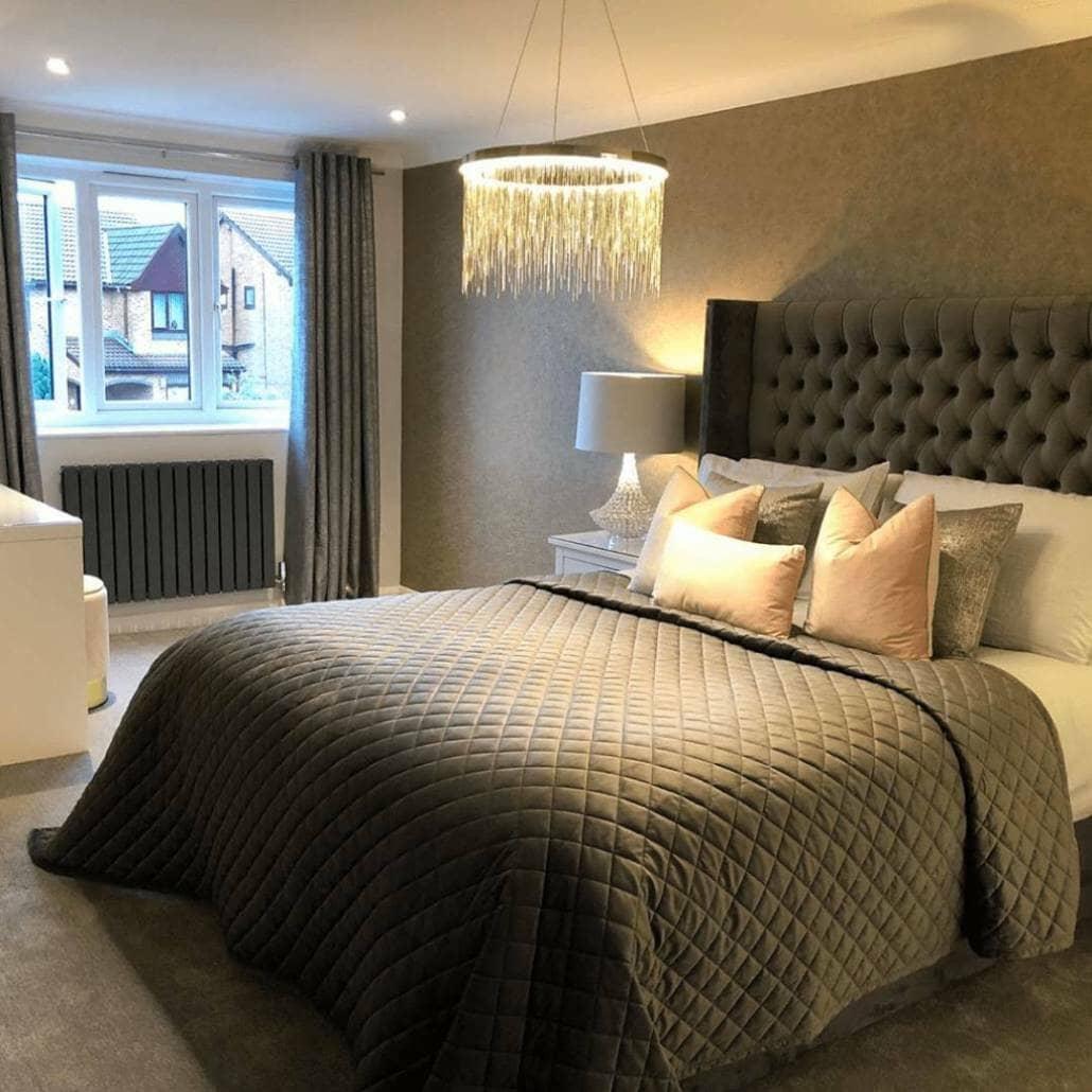 Milano Alpha designer radiator in a bedroom