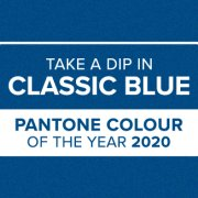 Take a dip in classic blue blog banner