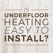 underfloor heating install blog