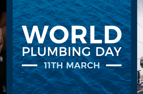 world plumbing day banner