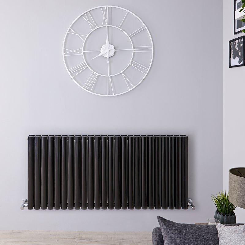 black designer radiator