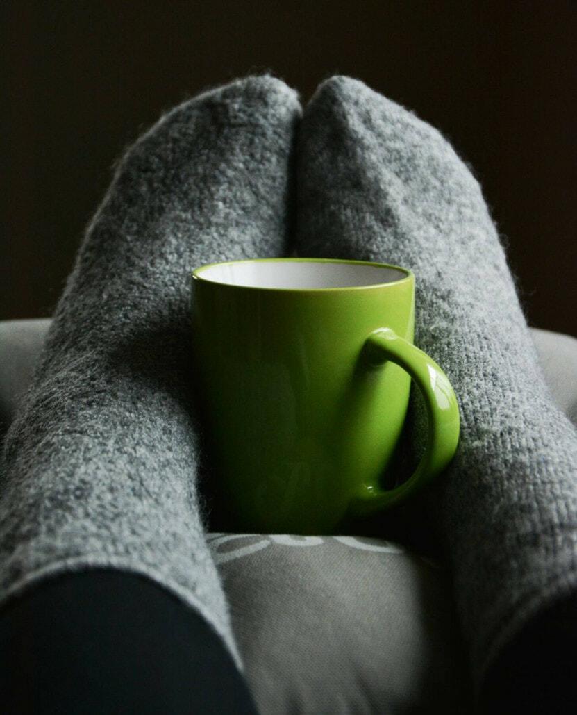 socks and mug