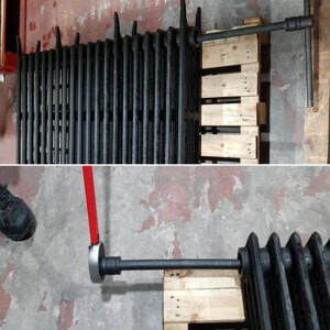 torque wrench tightening cast iron radiator sections