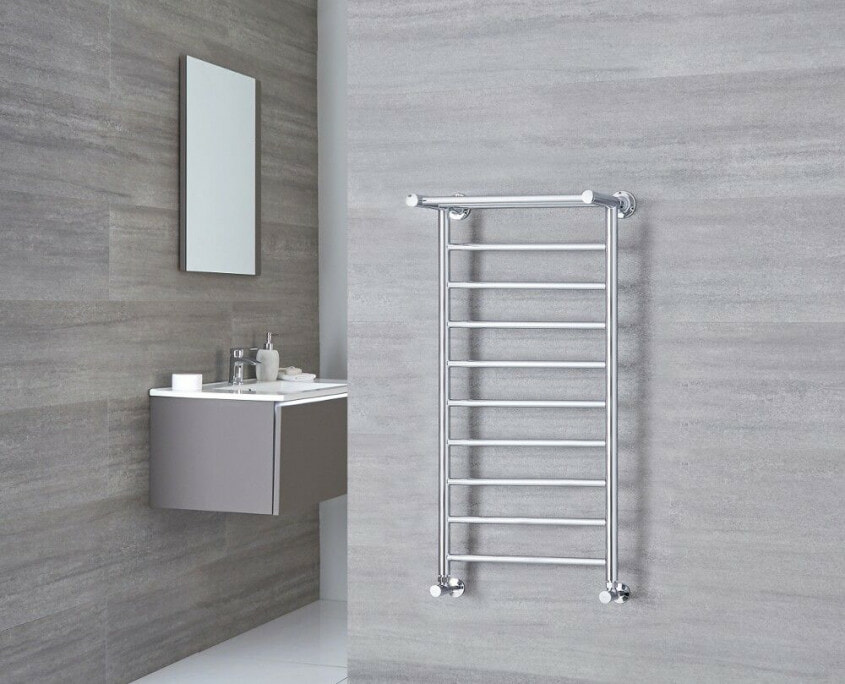 Milano Pendle chrome heated towel rail