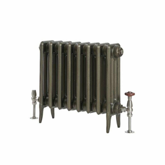 Milano Alice - Low-Level Classic Column Cast Iron Radiator - 460mm Tall - Antique Brass