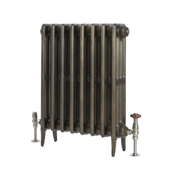 Milano Alice - Classic Cast Iron Column Radiator - 660mm Tall - Antique Brass