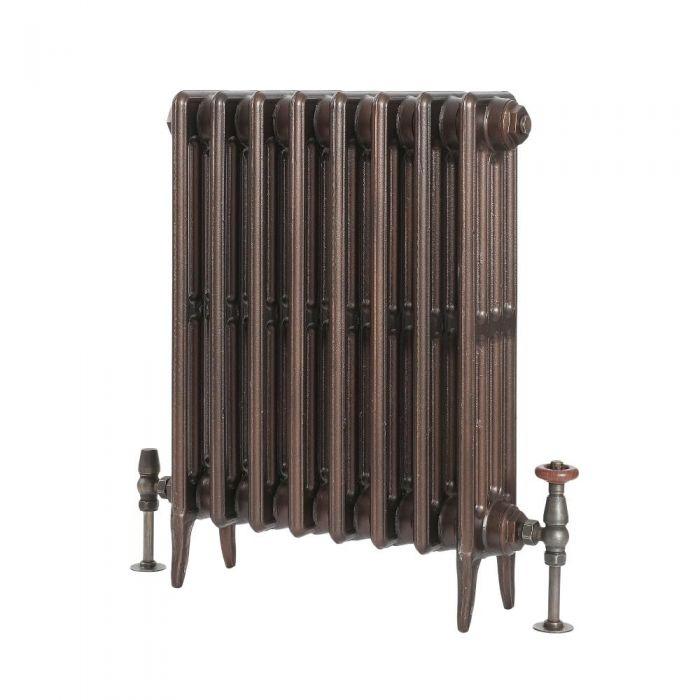 Milano Alice Classic Cast Iron Column Radiator 660mm - Antique Copper