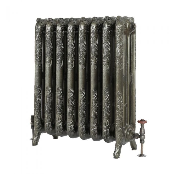 Milano Beatrix - Ornate Cast Iron Radiator - 768mm Tall - Antique Brass
