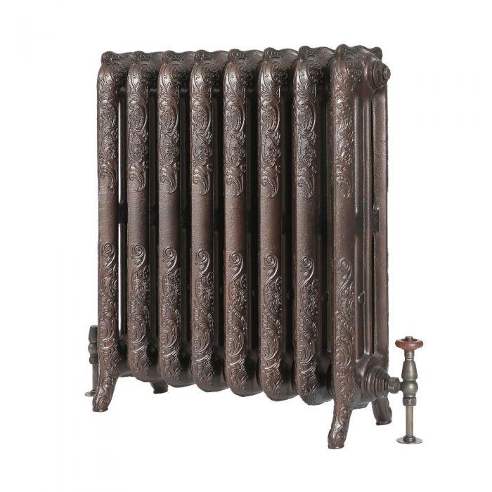 Milano Beatrix - Ornate Cast Iron Radiator - 768mm Tall - Antique Copper