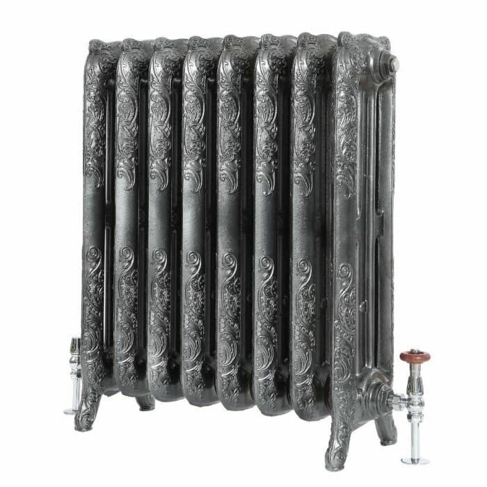 Milano Beatrix - Ornate Cast Iron Radiator - 768mm Tall - Pewter