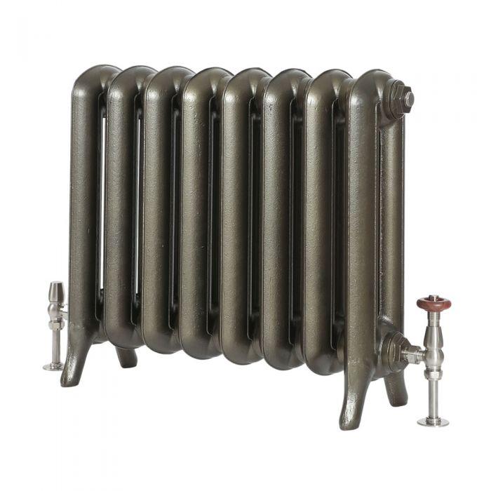 Milano Tamara - Oval Column Cast Iron Radiator - 560mm Tall - Antique Brass