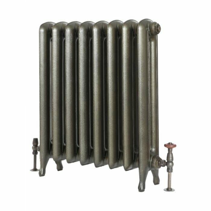 Milano Tamara - Oval Column Cast Iron Radiator - 760mm Tall - Antique Brass cut out