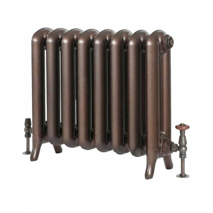 Milano Tamara - Oval Column Cast Iron Radiator - 560mm Tall - Antique Copper