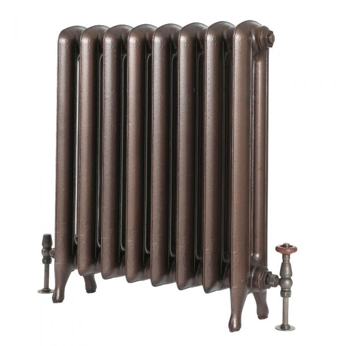 Milano Tamara - Oval Column Cast Iron Radiator - 760mm Tall - Antique Copper