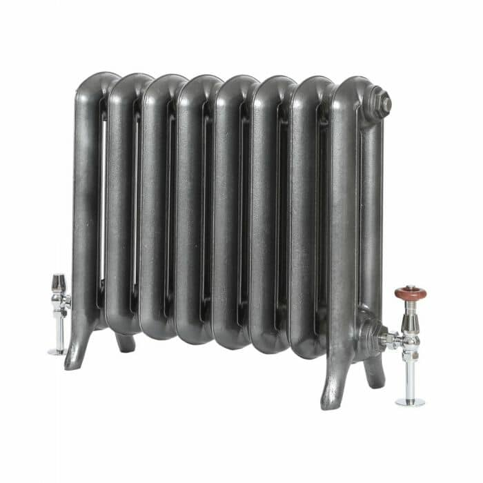 Milano Tamara - Oval Column Cast Iron Radiator - 560mm Tall - Pewter