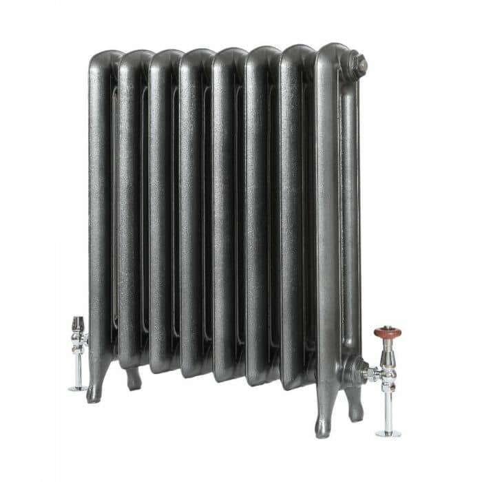 Milano Tamara - Oval Column Cast Iron Radiator - 760mm Tall - Pewter