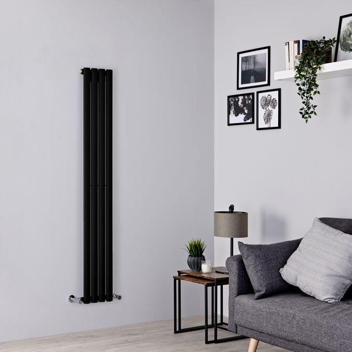 Milano Aruba slim black radiator