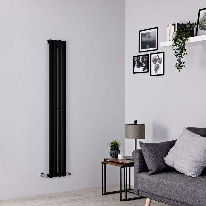 Milano Aruba slim black radiator