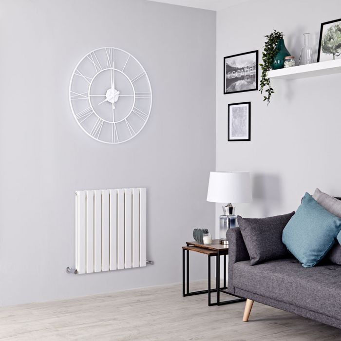 Milano Alpha white designer radiator.