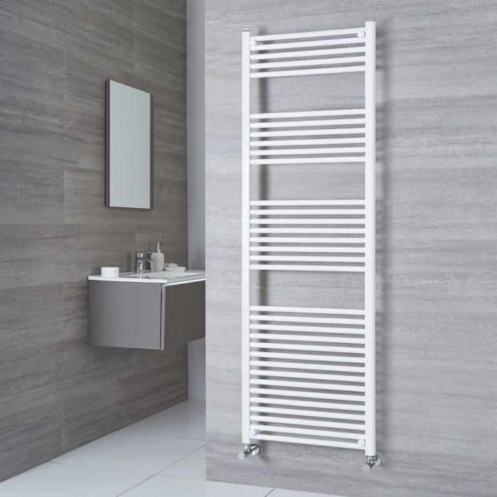 Large Milano Calder heated towel rail