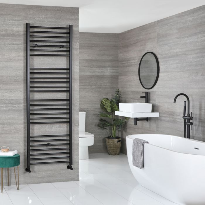 Milano Nero black heated towel rail