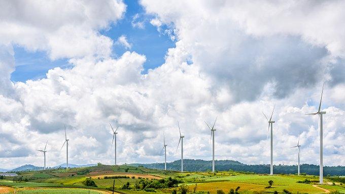 wind farm landscape