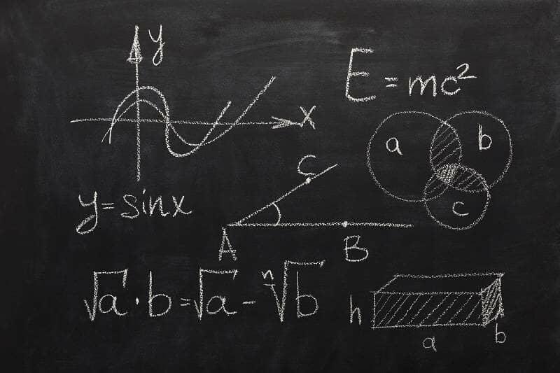 complex matahematics on a blackboard