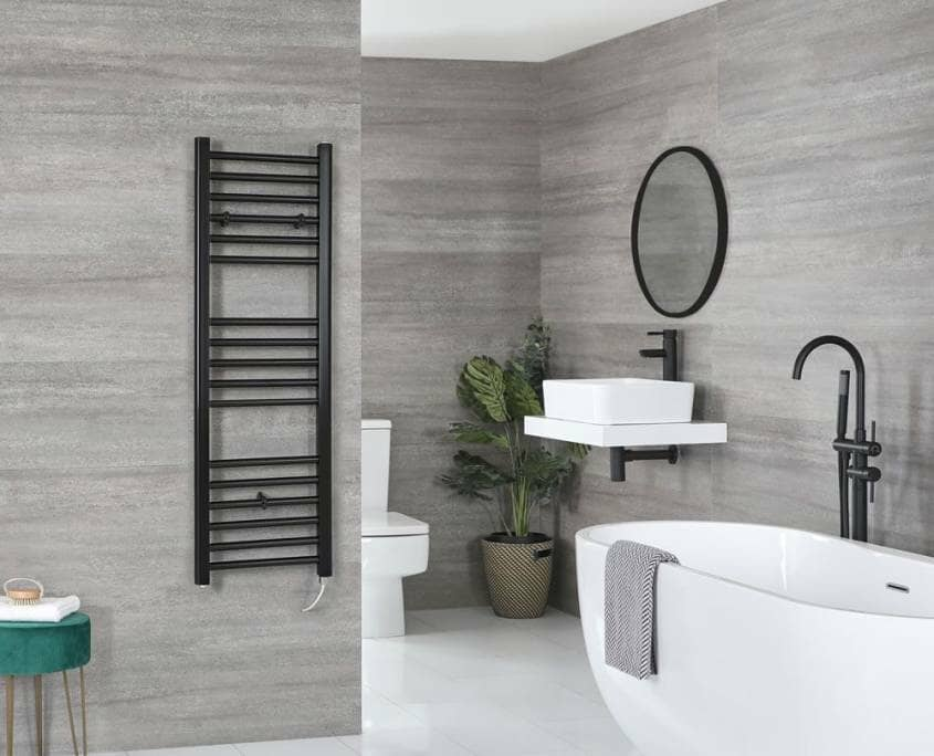 nero black electric towel rail