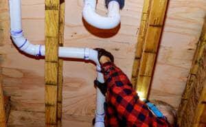 Plumber fitting PVC heating pipe