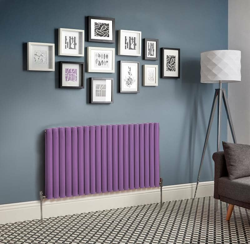purple designer radiator