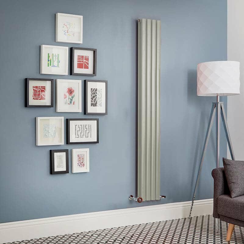 sage green designer radiator