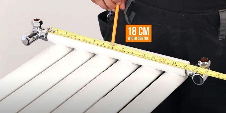 measuring a vertical radiator