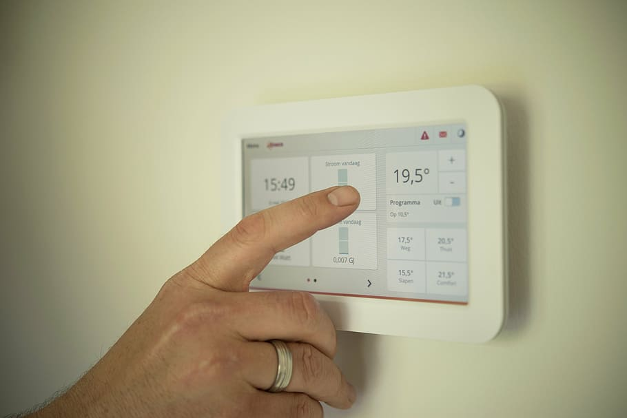 thermostat tablet settings