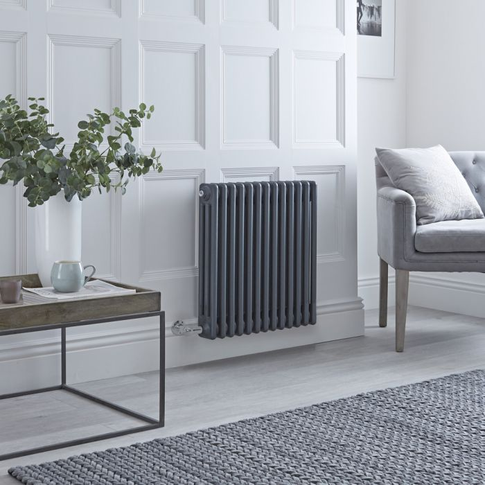 Milano Windsor Traditional Anthracite 3 Column Electric Radiator