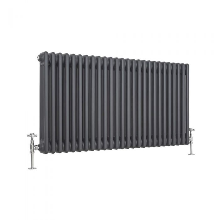 anthracite milano windsor column radiator cut out