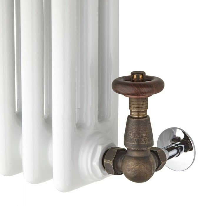 traditional valves on a column radiator