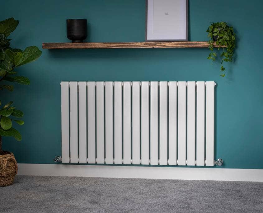 Milano Aruba white horizontal radiator