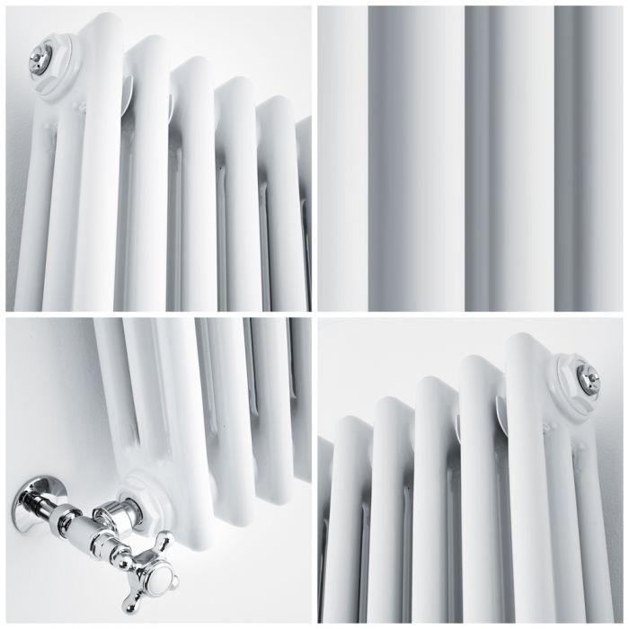 quad image of a windsor column radiator